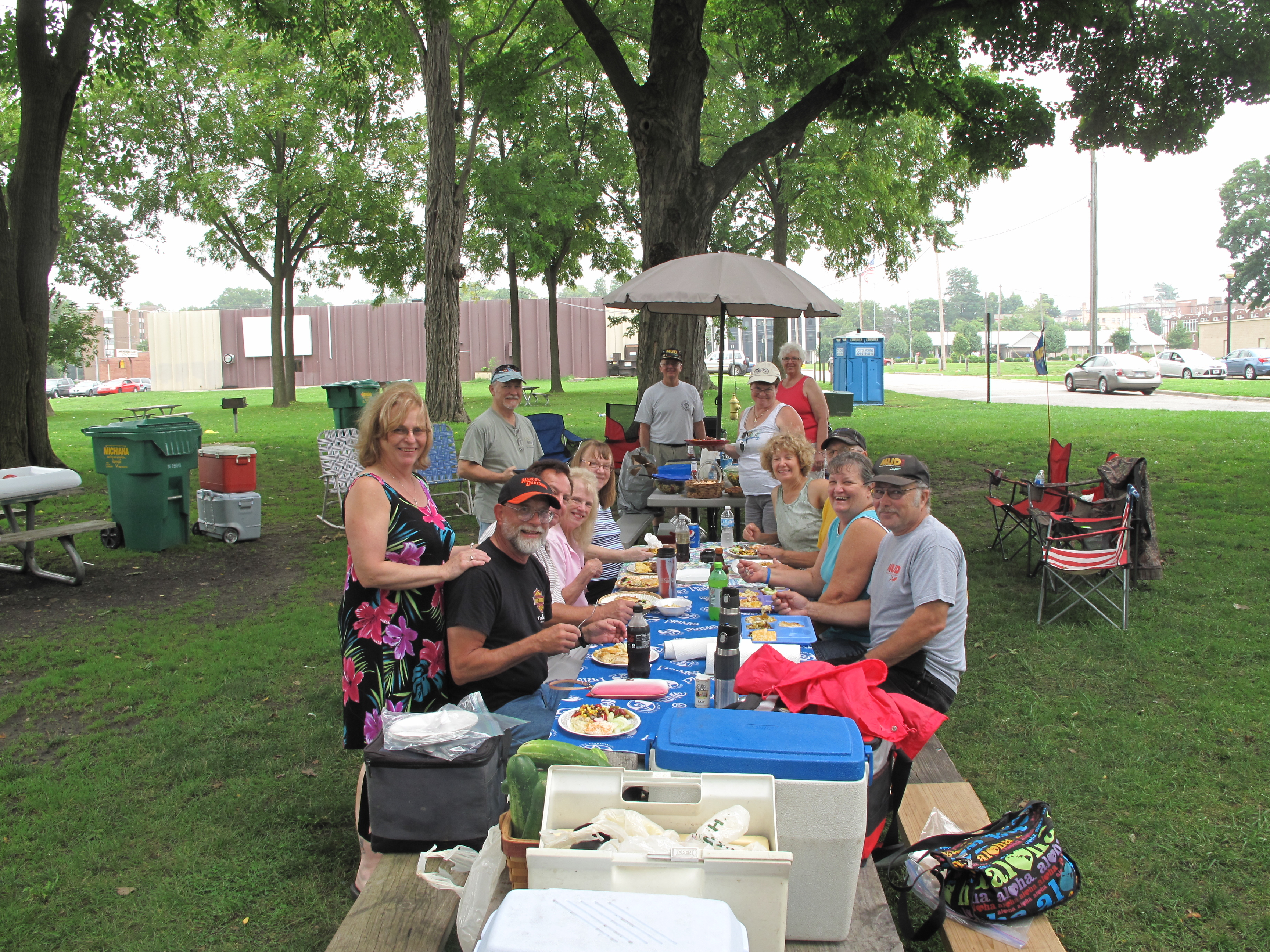 Some members of the MUD Club at Riverside Park in Niles, MI.