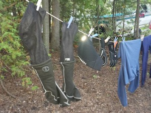 Suits hanging to dry